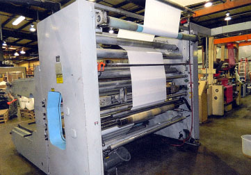 """Reifenhauser 82"""" Dual Station Large-Roll (up to 60"""") Surface Winder w/Edge Slitters for Single  Wound Film"""