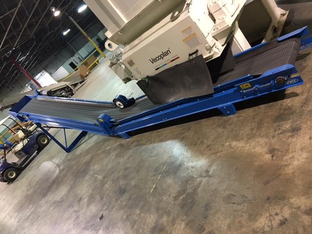 """Vecoplan Discharge Conveyor 26' Long x 2"""" wide 1 HP"""